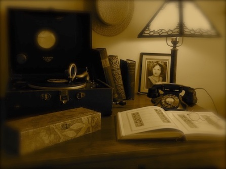 Image of student's desk during the Roaring Twenties